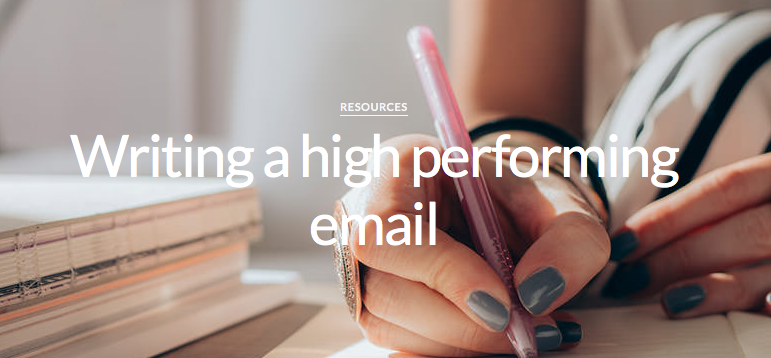 Writing a high performing email